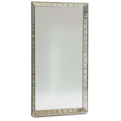 Mirror On The Wall - Vertical Mirror with Antiqued Mirror Frame