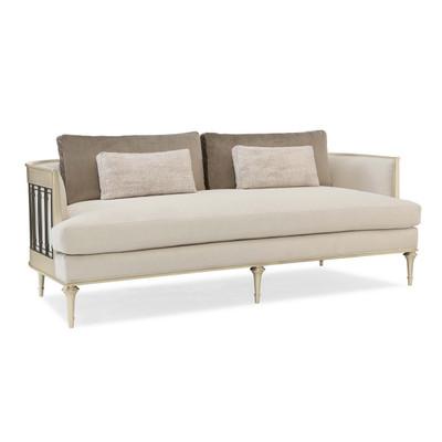 Quit Your Metal-Ing - Sofa with Metal Wraparound Metal Detail