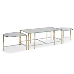 So Happy Together - Bunching Glass Top Cocktail Table