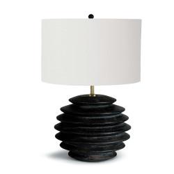 Accordion Round Table Lamp - Ebony