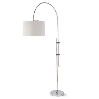 Arc Floor Lamp with Fabric Shade