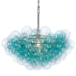 Bubbles Chandelier - Aqua