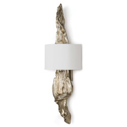 Driftwood Sconce - Silver