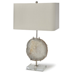 Exhibit Table Lamp - Nickel and Natural Agate