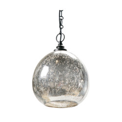 Glass Float Pendant - Antique Mercury