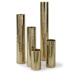 Hammered Bud Vase Set - Polished Gold