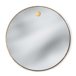 Hanging Circular Mirror - Brass