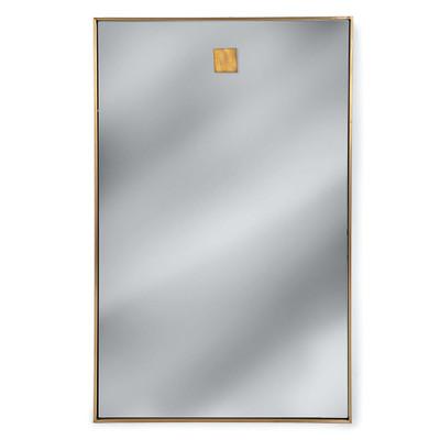 Hanging Rectangle Mirror - Brass