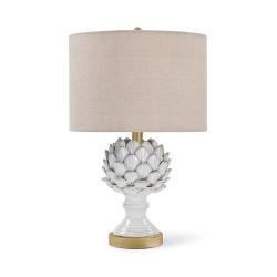 Leafy Artichoke Ceramic Table Lamp - Off White