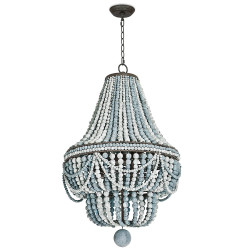Malibu Chandelier - Weathered Blue