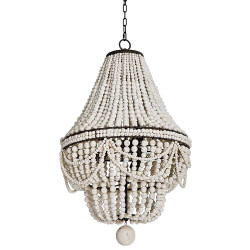 Malibu Chandelier - Weathered White