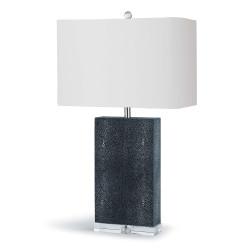 Marcel Charcoal Shagreen Column Table Lamp