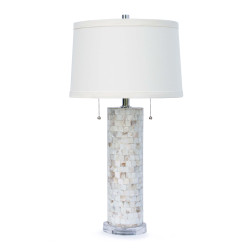 Mother of Pearl Column Lamp