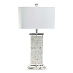 Mother of Pearl Square Column Table Lamp