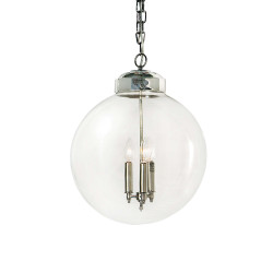 Nickel Globe Pendant