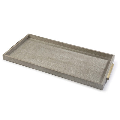Rectangle Boutique Tray in Ivory Grey Python