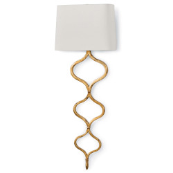 Sinuous Sconce - Gold Leaf