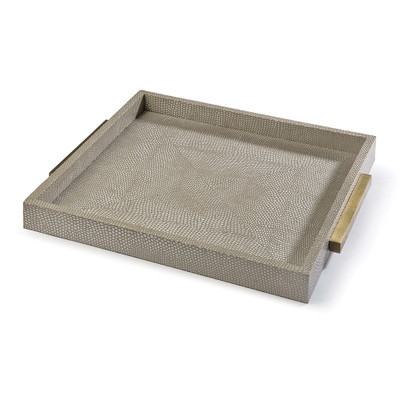 Square Boutique Tray - Ivory Grey Python