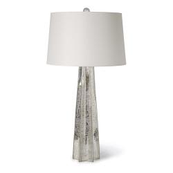 Star Glass Table Lamp - Antique Mercury