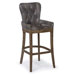 Tavern Bar Stool - Antique Ebony