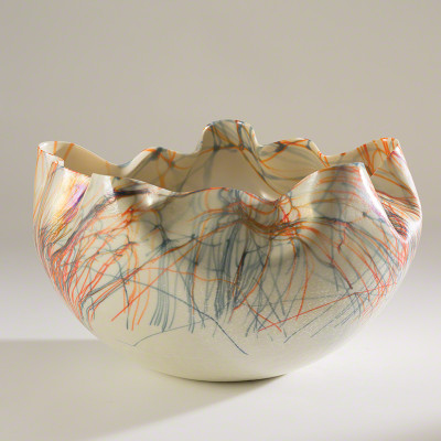 Cambrian Bowl - Orange & Blue