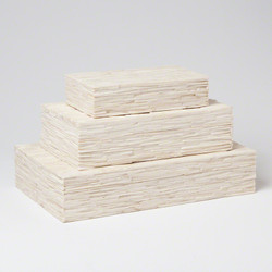 Chiseled Bone Storage Box - Lg