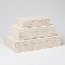 Chiseled Bone Storage Box - Med