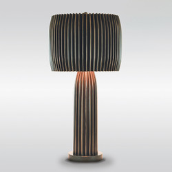 Crimp Table Lamp - Bronze