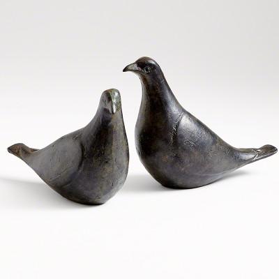 Dove Pair - Oiled Bronze