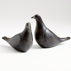 Dove Pair - Oiled Bronze