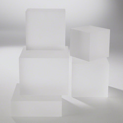 Frosted Crystal Cube Riser - Lg