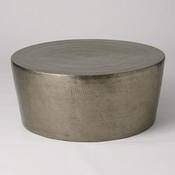 Izmir Hammered Cocktail Table - Antique Nickel