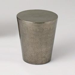 Izmir Hammered Side Table - Antique Nickel