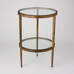 Laforge Two - Tiered Side Table - Antique Gold