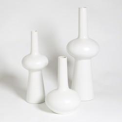 Lunar Vase - Matte White - Lg