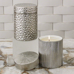 Moonscape Jar Candle - Sandalwood Teak - Silver