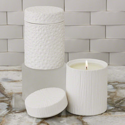 Moonscape Jar Candle - White Tahiti - Matte White