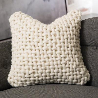 Noodle Felt Pillow - Bone