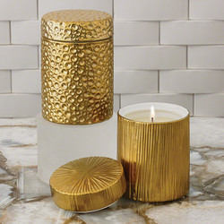 Ocean Jar Candle - Sandalwood Teak - Gold