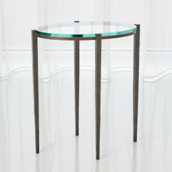 Petite Oval Accent Table - Natural Iron