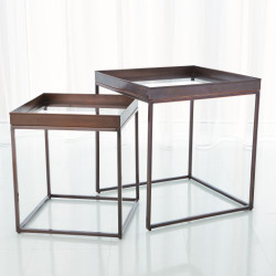 S/2 Perfect Nesting Tables - Bronze