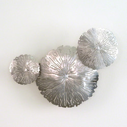 S/3 Lily Pad Clusters - Antique Nickel