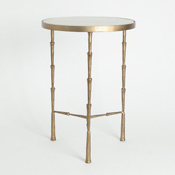 Spike Accent Table w/ White Marble