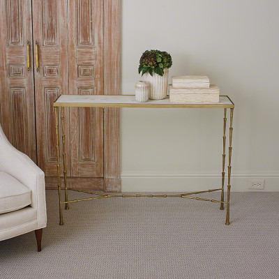 Spike Console w/ White Marble