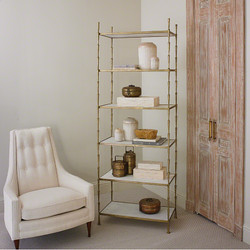 Spike Etagere w/ White Marble