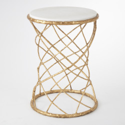 Tango Accent Table - Gold Leaf