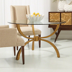 Teton Table Base Only - Gold
