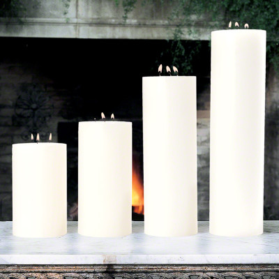 """3 Wick Pillar Candle - Unscented - 5""""x18"""""""