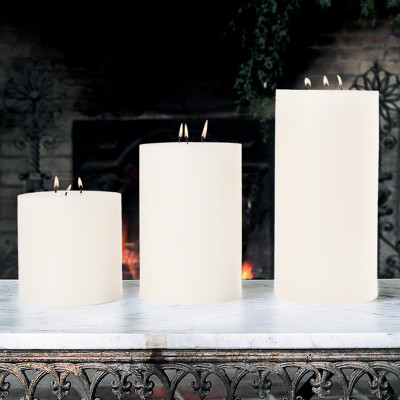 "3 Wick Pillar Candle - Unscented - 6""x6"""