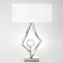"Abstract Lamp w/6"" Crystal Sphere - Nickel"